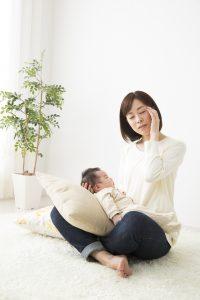 育児に疲れたママ